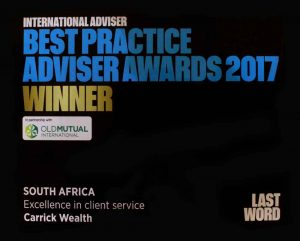International Advisor Best Practise Adviser Awards 2017 - Winner