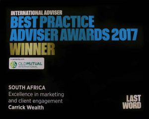 International Advisor Best Practise Aawards - Client Engagement
